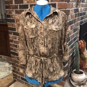 Snakeskin blouse